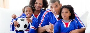 Happy Family Watching Sports 1280×480