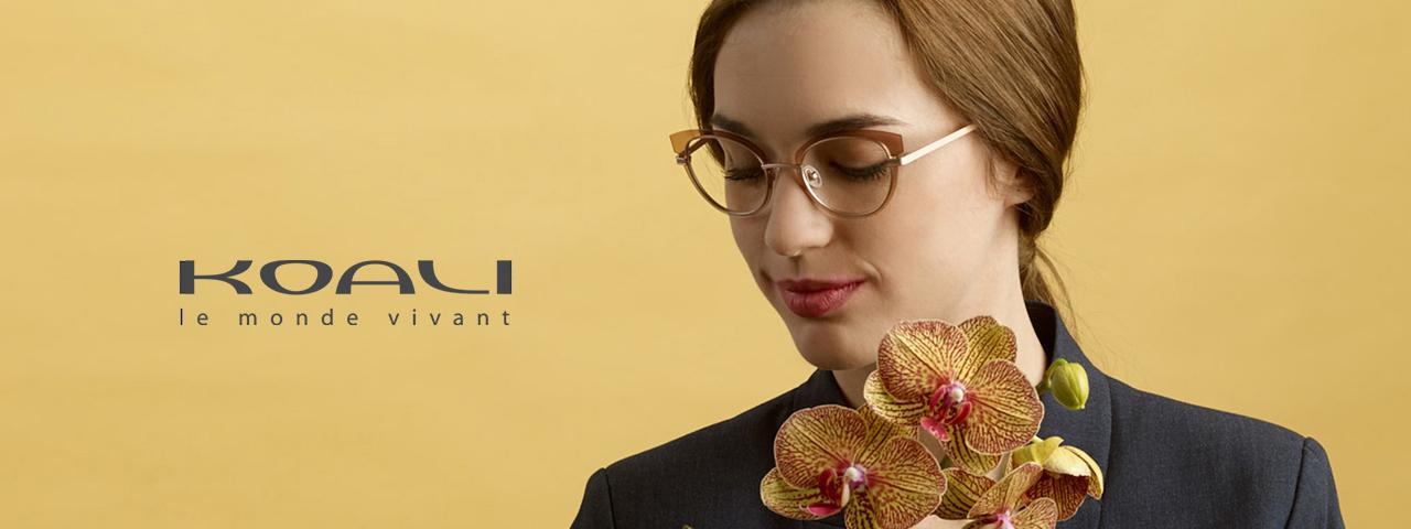 Woman wearing Koali eyeglasses, Eye Care in Lantana, FL