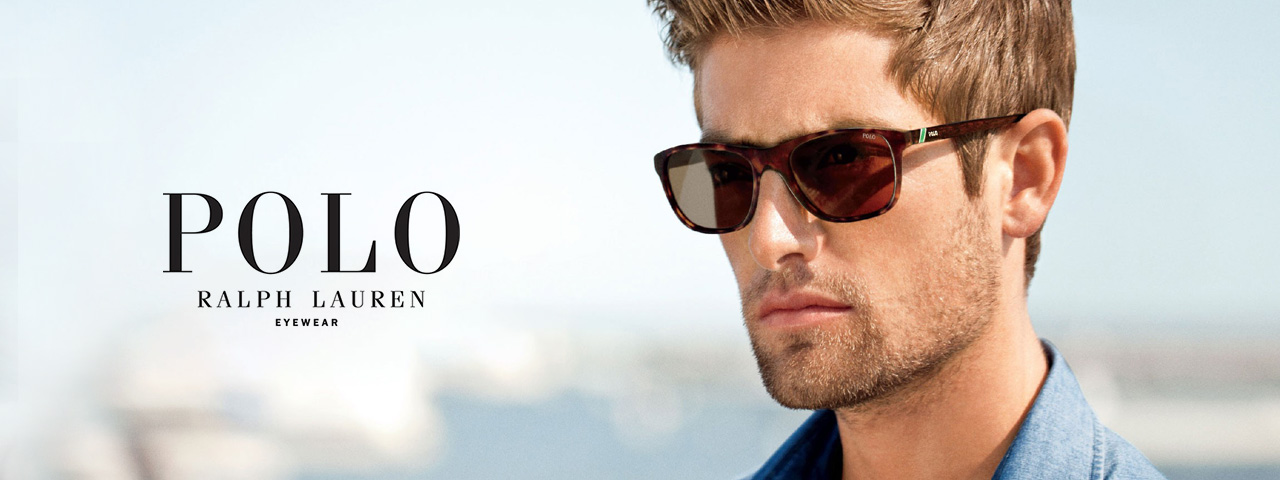 Man wearing Polo Sunglasses
