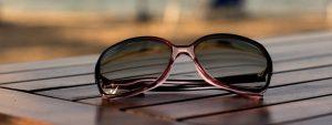 Sunglasses On Wood In Orange, TX