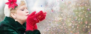 Woman Coat Gloves Confetti 1280×480