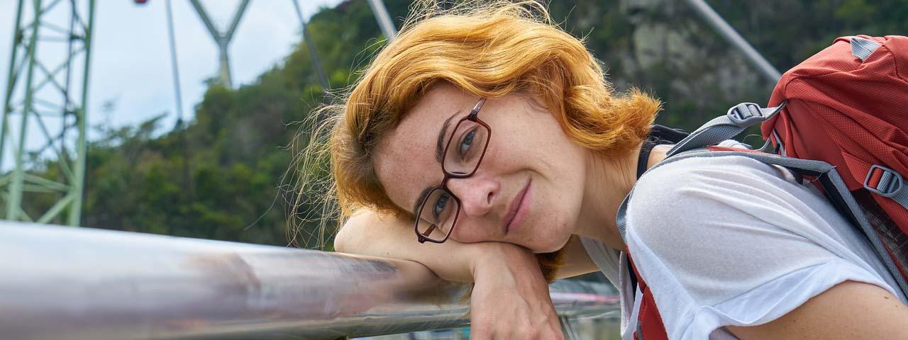 eye doctor, woman wearing progressive lenses in Potomac, MD
