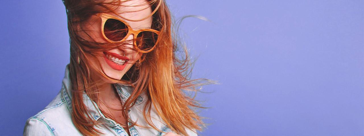 Woman Wearing Glasses, Smiling, in Burnsville, MN