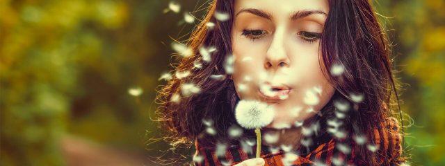 Woman Blowing Dandelion 1280x480
