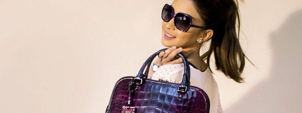 Woman Sunglasses Purple Handbag 1280x480