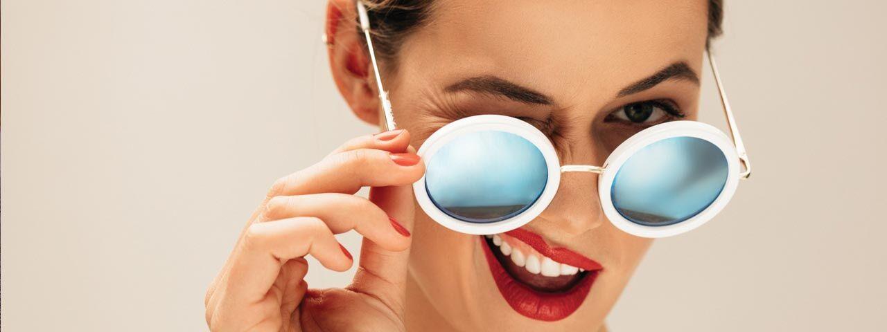 Eye care, woman with sunglasses in Sacramento, CA