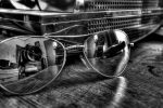 aviator sunglasses still life