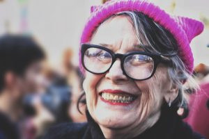 Elderly Woman Hat Glasses 1280×853