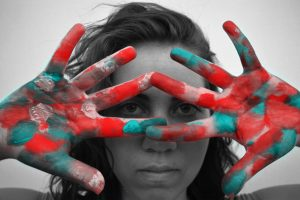 Girl Colorful Painted Hands 1280x853