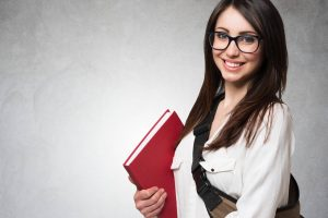 School Girl Happy Glasses