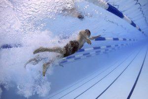 Sport laneswim underwater bkground med