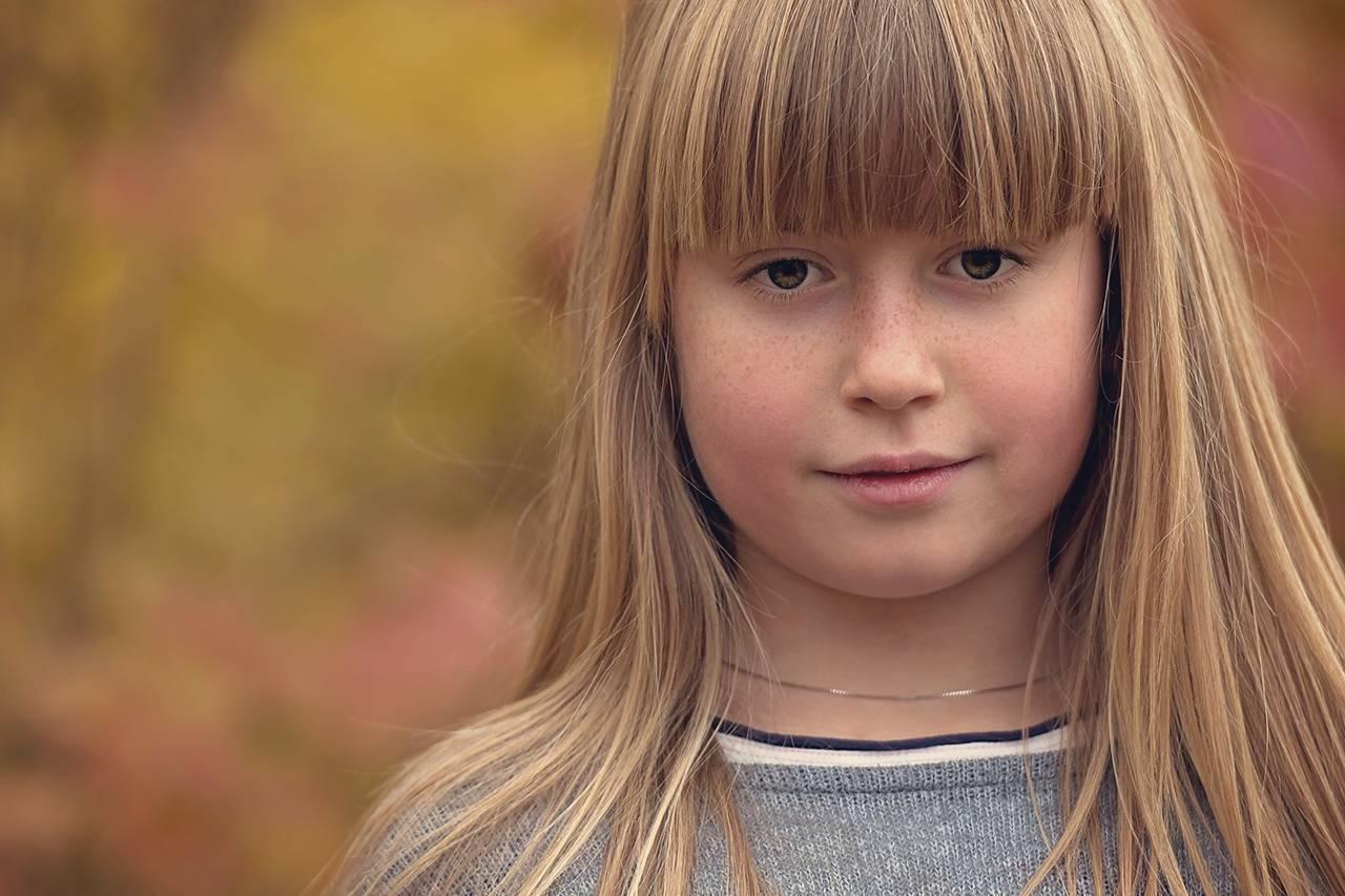 Young Blond Girl Outside - Olathe, KS