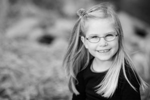 Young Girl Smiling Glasses - eye care Robinson Township
