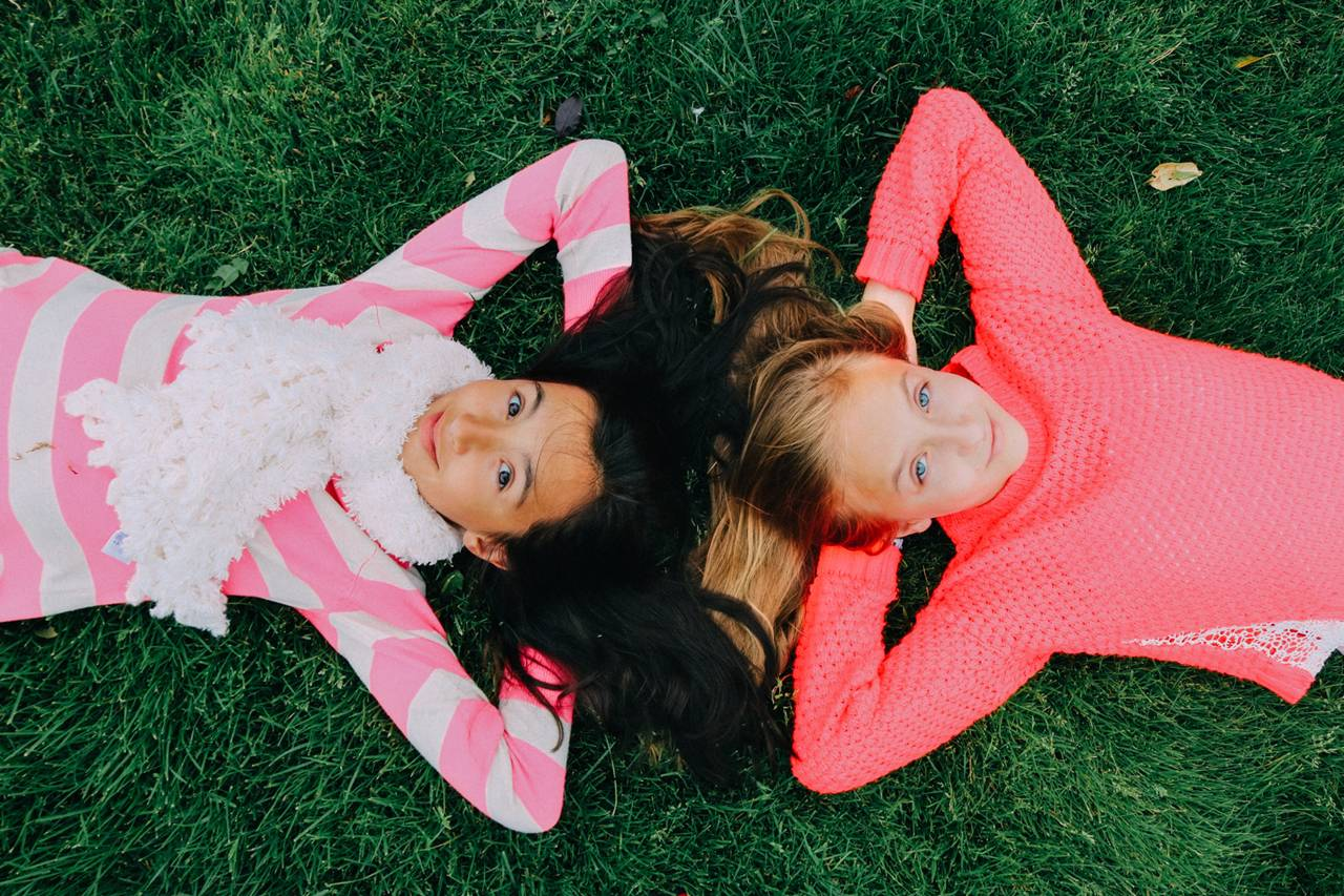 Mobile Alabama contact lenses kids lying on grass