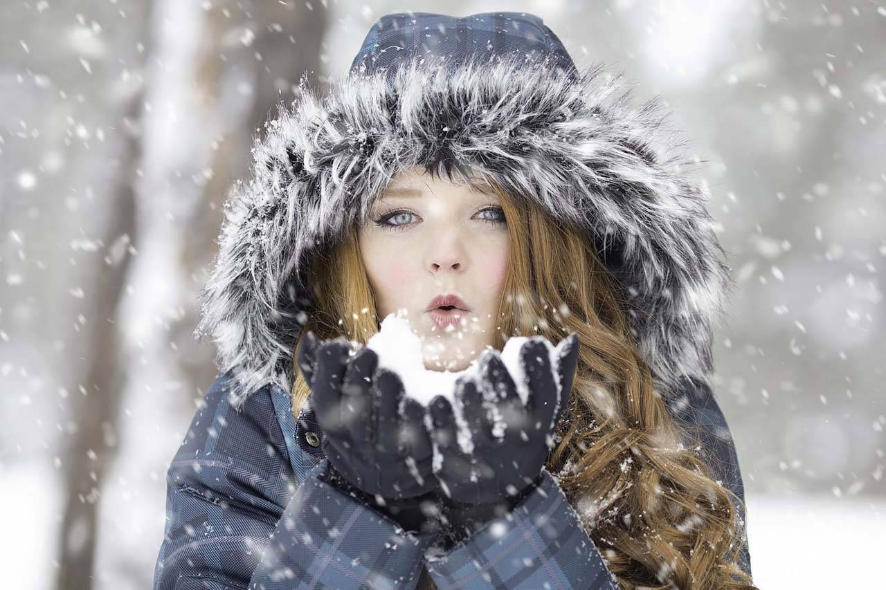 Dry Eye Specialists of Lehigh Valley, PA Woman Blowing Snow