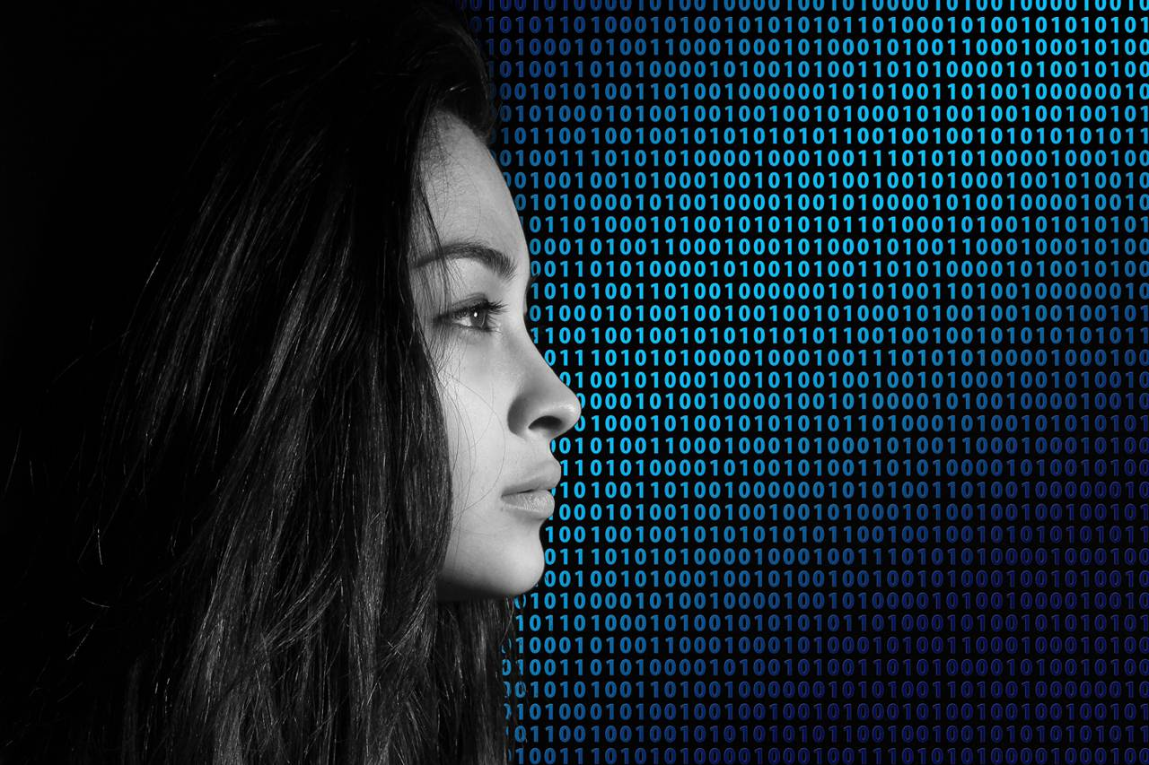Young Woman Binary Numbers 1280x853