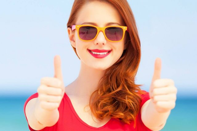 woman wearing sunglasses - eye doctor - austin, tx
