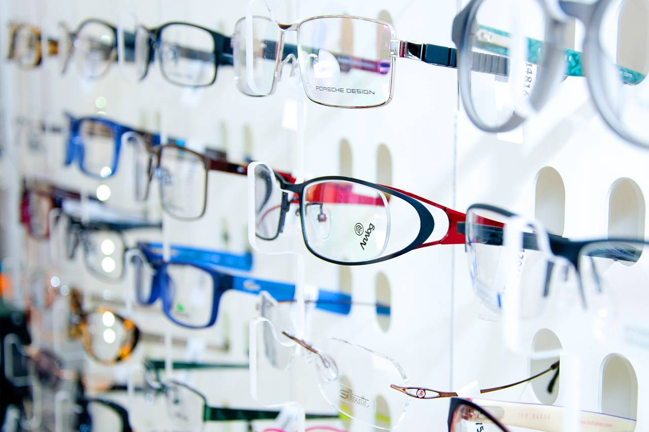 eyewear optical glasses rack