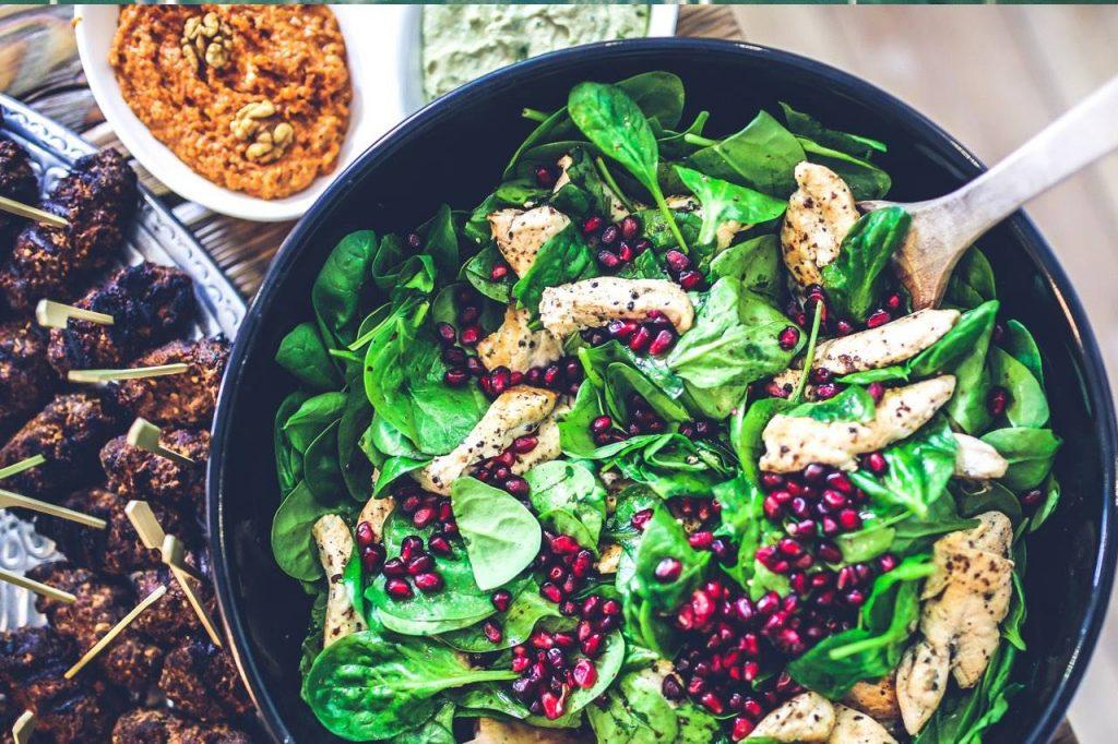 food nutrition spinach chicken salad olathe ks