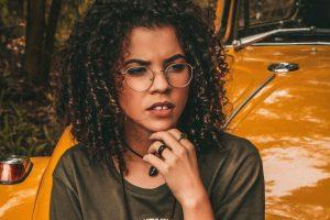 Girl wearing glasses in Houston, TX