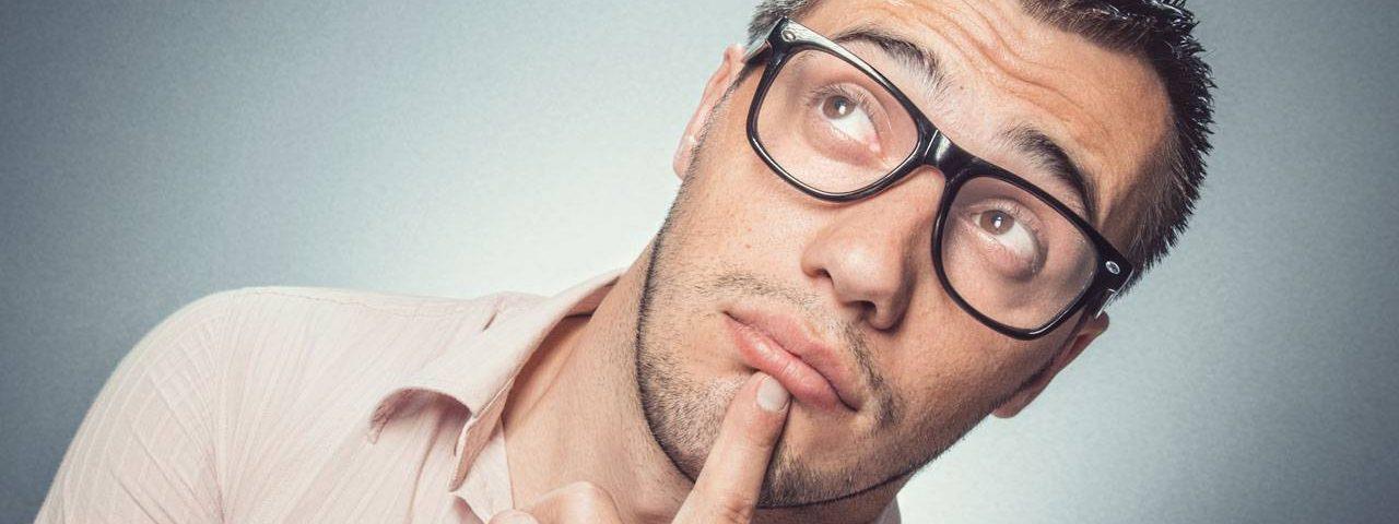 Man wearing glasses, optometrist, eye care, Fort Collins, CO