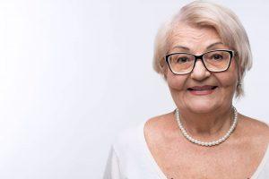 Eye Doctor, Senior Woman Happy with her eyeglasses in Rockledge, FL,