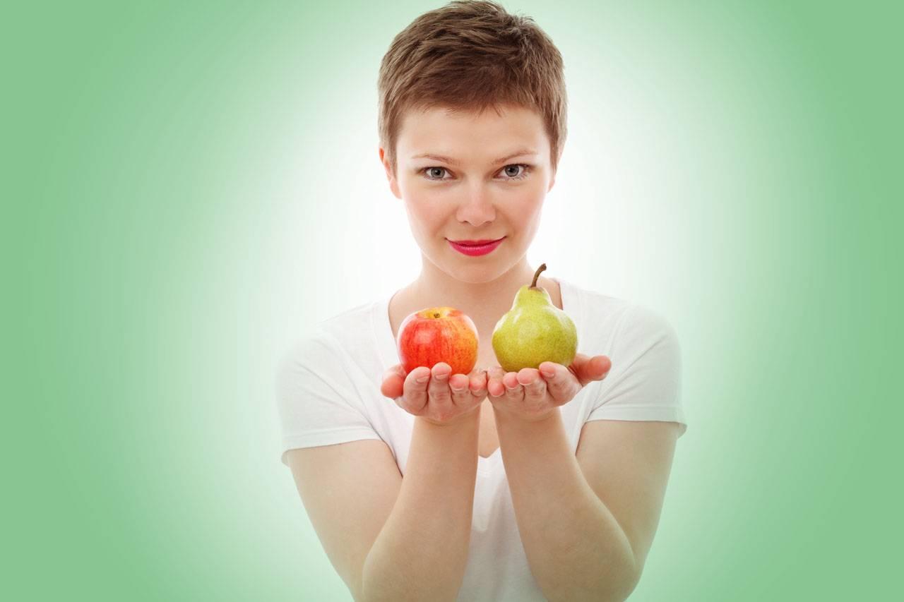 nutrition american woman pear apple green
