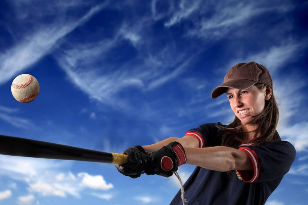 sports baseball woman player