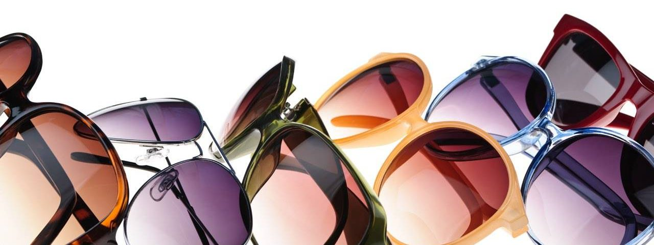various colorful sunglasses in a row, Optometrist, Eye Care, Irvine, CA