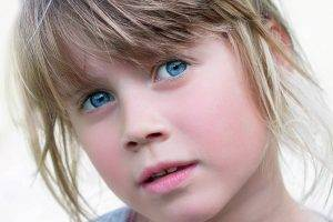 Blue Eyes Shy Girl