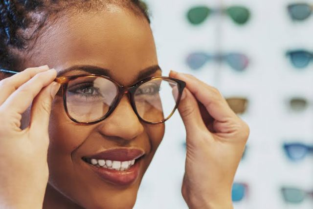 lady with presbyopia and glasses in oxnard ca