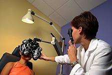 retinoscopy during eye exam