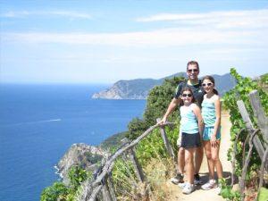 family by ocean