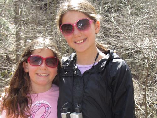 2 girls in the woods, wearing Sunglasses in Roanoke, VA