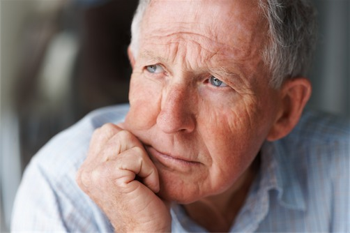 senior man in thought macular degeneration ft lauderdale fl