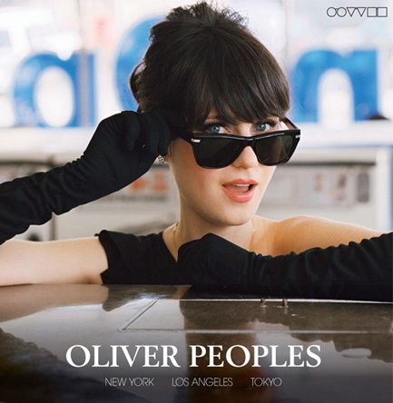 Woman wearing Oliver Peoples glasses