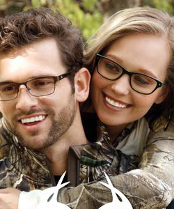 Eye exam, happy couple with eye glasses in Spring, TX