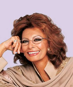Sophia Loren eyeglass Ad with middle aged african american woman