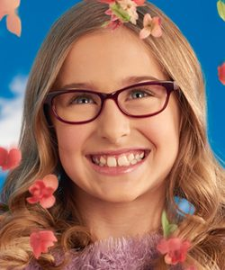 Wildflower eyeglass Ad with blonde teen girl