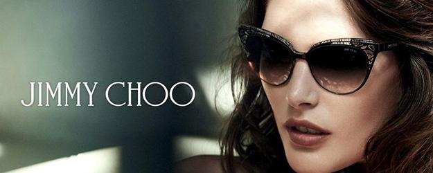 Woman Wearing Jimmy Choo Designer Eyeglass Frames