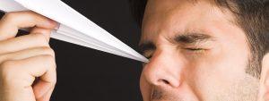 Man Poking Eye Paper Airplane 1280x480