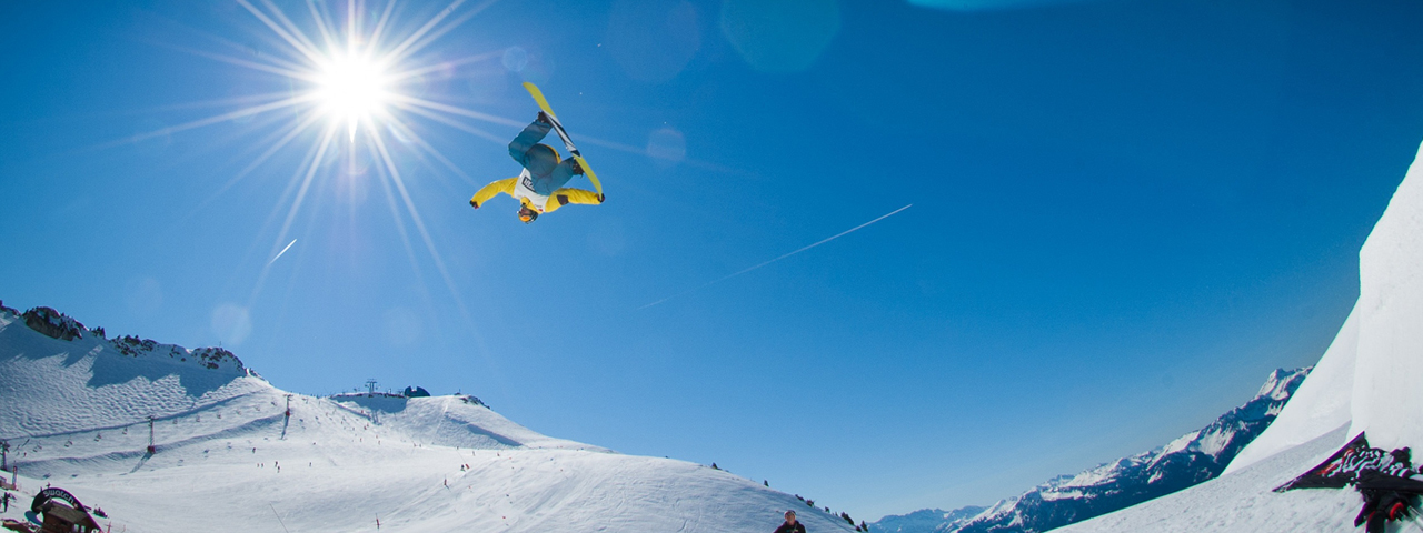 snowboarding flip in air
