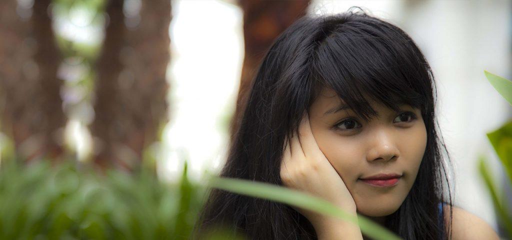 asian female teen outside in Brea, CA