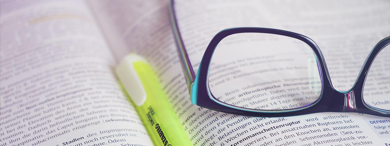 open book glass marker