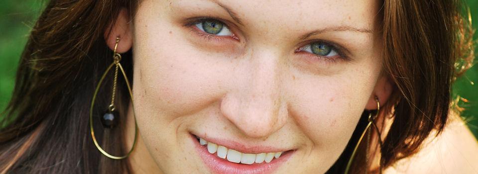 Woman in earrings
