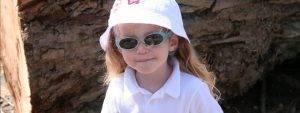 Young Child White Hat Sunglasses - Kelowna eye doctor