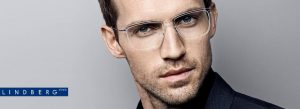 Man Wearing Lindberg Eyeglass Frames