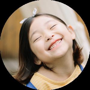 Asian child enjoys ortho-k in Frederick NY
