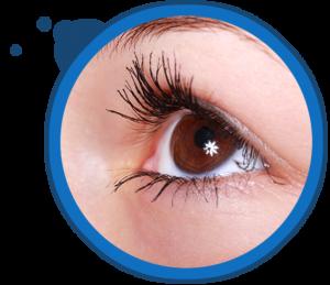 closeup eye mascara