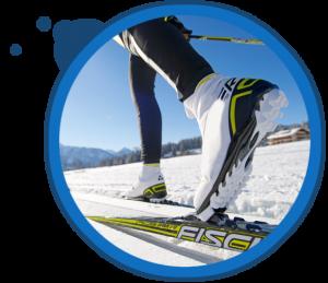 skiing sunnyday